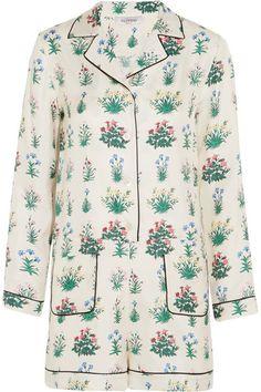 Valentino   Floral-print silk-twill playsuit   NET-A-PORTER.COM