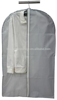 Storage or Travel Garment Bags Premium Quality Breathabl for Womens Dress Suit Covers with Clear Window Orange, 55cm105cm Full Zipper Mens Suit Bag for Suit Carriers Dresses