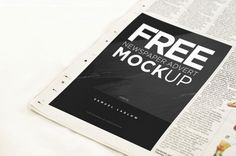 IF you or your clients are seeking to add advertisement on a newspaper, here the cool mockup that will you to showcase your design. Grab the FREEBIES from the link below. This freebies brought to y… Layout, Free Photoshop, Mockup Templates, Design Templates, Graphic Design Branding, Corporate Design, Web Design, Print Design, Newspaper Advertisement