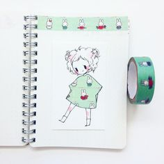 accidently deleted omg fashion 10 i'm working on a little zine for these washi tape girls! Tape Art, Kawaii Drawings, Cute Drawings, Chibi Manga, Art Kawaii, Illustration Art, Illustrations, Drawn Art, Dibujos Cute