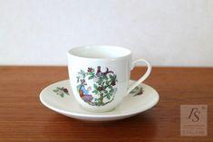 Gustavsberg COFFEA coffee cup and saucer Coffee Cups And Saucers, Cup And Saucer, Arabic Decor, Scandinavian, Porcelain, Mint, Ceramics, Tableware, Ceramica