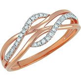 Diamond and Rose Gold Ring