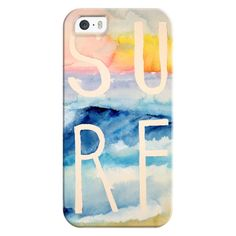 iPhone 6 Plus/6/5/5s/5c Bezel Case - Sunset Beach Surf found on Polyvore