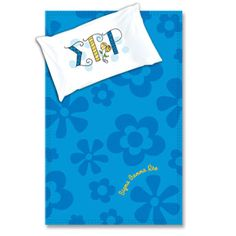 Sigma Gamma Rho Sorority Blanket and Pillowcase Package $34.95