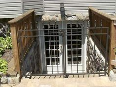 exterior basement door ideas | exterior basement entry design