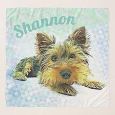Custom Pastel Puppy Dog Yorkie Yorkshire Terrier Scarf - dog puppy dogs doggy pup hound love pet best friend