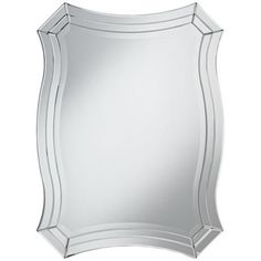 """Idell Scalloped Side 23 1/2"""" x 32"""" Wall Mirror - $199"""