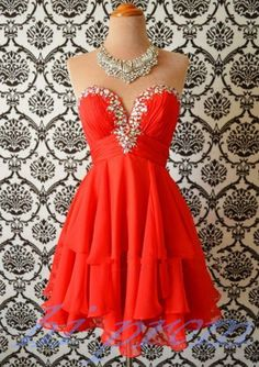 Red Homecoming Dress,Simple Homecoming Dresses,Beautiful Homecoming Gowns,Short Prom Gown,Sweet 16 Dress,Cute Homecoming Dresses,Chiffon Cocktail Formal Dress