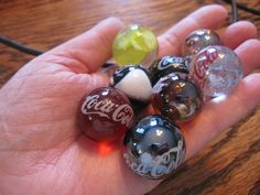 1950S Marbles | COCA COLA EIGHT MARBLES: 1940-1950's VINTAGE Completed