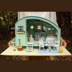 DIY casa de muñecas miniatura viajero tiempo casa de por UniTime