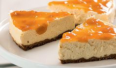 Cheesecake diet com calda de damasco