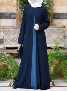 The Elegant Abaya - Abayas - Women Islamic Fashion, Muslim Fashion, Modest Fashion, Simple Abaya Designs, Abaya Designs Dubai, Hijab Evening Dress, Hijab Style Dress, Modele Hijab, Islamic Clothing