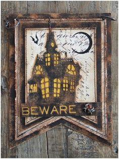 Halloween Words, Halloween Tags, Halloween House, Vintage Halloween, Fall Halloween, Halloween Paper Crafts, Halloween Projects, Halloween Decorations, Foam Stamps