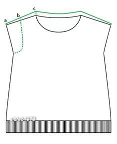 Еще раз про спущенный рукав: моделирование более высокого плеча спинки