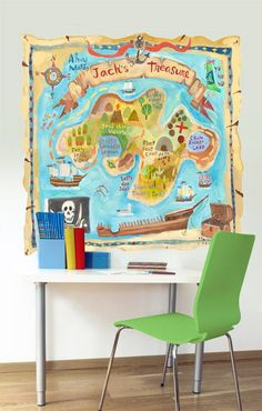 Treasure Map Personalized Mural Decal - Wall Sticker Outlet
