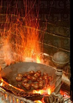 Chestnuts roasting on an open fire……
