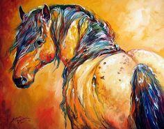 appaloosa art | MUSTANG APPALOOSA - by Marcia Baldwin from Western Art by M Baldwin