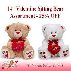 "14/"" Teddy Bear Plush Sparkle LOVE Heart Valentine/' Mother/' Birthday"