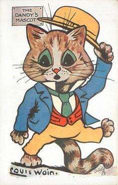 THE DANDY'S MASCOT Louis Wain