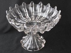 """EAPG """"BROKEN COLUMN"""" Large Open Compote made by Columbia Glass Co. circa 1888, and U.S. Glass Co. circa 1893, 10.5""""D x 7.75""""H"""