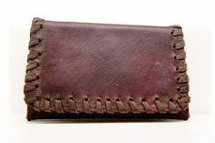 Pellami : Lubinski brown tobacco pouch woven leather - Tabaccheria Sansone - Pipe Tabacco Sigari - Accessori per fumatori