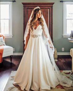 33 Vintage Inspired Wedding Dresses ❤ vintage inspired wedding dresses simple v neckline taralatour #weddingforward #wedding #bride #weddingoutfit #bridaloutfit #weddinggown