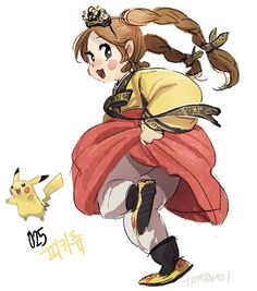 Pokemon as human characters. By South Korean illustrator Tamtamdi