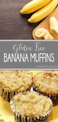 These Gluten Free Banana Muffins turned out so amazing!To be honest I couldn't tell much of a difference. They were moist flavorful and gluten-free. Snack Recipes, Oven Recipes, Copycat Recipes, Bread Recipes, Easy Recipes, Recipies, Good Food, Yummy Food, Gluten Free Banana