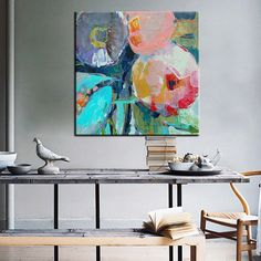 Aliexpress.com : Buy Large Modern pintura oleo flores canvas wall art abstract oil painting on canvas decorative picture for living room decoration from Reliable oil painting suppliers on Art Blue River