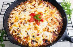 Skinny Tomato, Rice and Corn Skillet Casserole | FaveHealthyRecipes.com