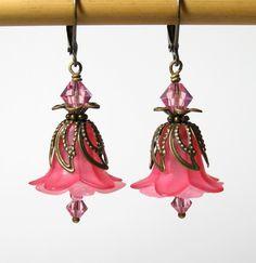 Lucite Flower Earrings Source confirmed 3/3/2013
