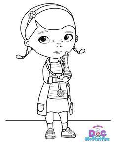 Doc McStuffins Dottie - Free Printable Coloring Pages For Reegan's bday Cake