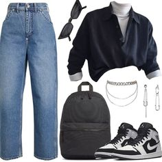 Cute Casual Outfits, Edgy Outfits, Mode Outfits, Retro Outfits, Grunge Outfits, Fall Outfits, Vintage Outfits, Looks Style, Looks Cool
