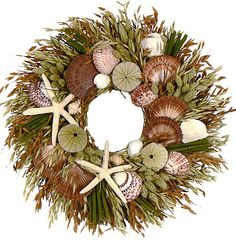 KONA COAST COLLECTION -SEASHELL WREATHS, ARRANGEMENTS, MIRRORS & DECORATIVE SWAG
