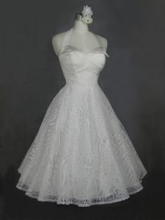 Vintage Style Wedding Dresses (wedding dress,fifties,50s,vintage,halter top,leopard print)
