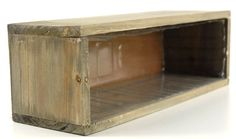 """Wood Planter Box 11-3/4"""" x 4"""" with liner $8.29 each / 6 for $7 each"""