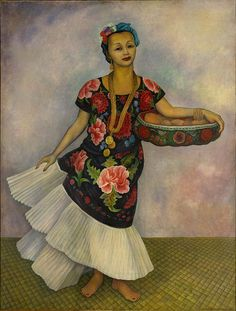 Diego Rivera  Portrait of Dolores Olmedo (Tehuana), 1955 Oil on canvas,  201.2 x 153.1 cm  Collection of the Museo Dolores Olmedo, Xochimilco, Mexico