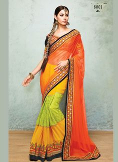 Buy designer wedding bridal saree with 48% discount at #craftshopsindia   #weddingsaree #bridalsaree #designersaree