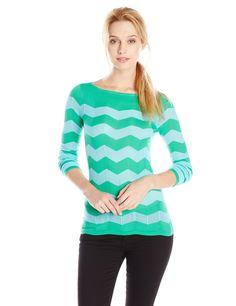 Lilly Pulitzer Women's Ava Sweater, Jade Green Ziggy Zaggy Stripe, X-Small