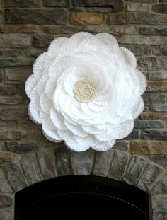 Use a hula hoop, coffee filters, hot glue, and some lace to make this… :: Hometalk