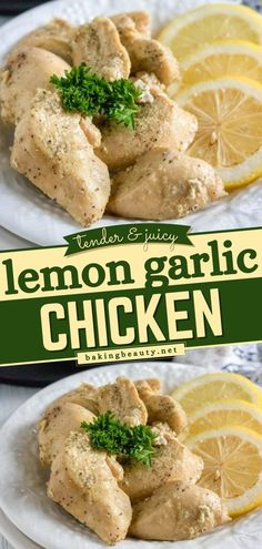Busy night? Give this easy one pot recipe a try! This lemon garlic chicken recipe is an easy main dish and a great summer dinner idea. It's lemony, tender, and bursting with flavor. Save this chicken recipe for later! Easy Main Dish Recipes, Dinner Recipes, Yummy Recipes, Dinner Ideas, Lemon Garlic Chicken, Garlic Chicken Recipes, Food Dishes, Main Dishes, One Pot Meals