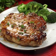 These Garlic Brown Sugar Pork Chops are such a delicious blend of flavors and is sure to be a new family favorite! These Garlic Brown Sugar Pork Chops are such a delicious blend of flavors and is sure to be a new family favorite! Brown Sugar Pork Chops, Honey Glazed Pork Chops, Sweet And Sour Pork Chops, Asian Pork Chops, Thick Cut Pork Chops, Center Cut Pork Chops, Pork Chops And Rice, Brown Sugar Chicken, Honey Garlic Pork Chops