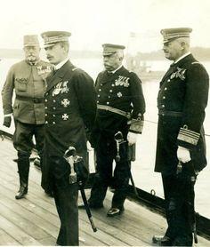 "kaiserinchantal: "" ""Emperor Charles I of Austria with fellow officers aboard SMS Viribus Unitis c. 1917 "" """