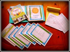 Summer - kids schedule - moms camp