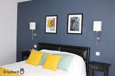 Chambre parentale par Anna B Bedroom Color Schemes, Bedroom Colors, Interior Design Living Room, Interior Decorating, Stylish Bedroom, Bed Styling, Ikea, Sweet Home, Furniture