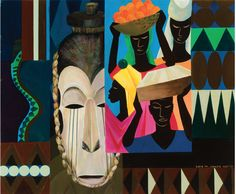 Damballah (1980). Painting by Lois Mailou Jones. Lois Mailou Jones came to fame as a painter during the latter stages of the Harlem Renaissance in the 1930s. In addition to being a painter with many diverse styles, she was a talented textile designer and did a number of book and magazine covers. There's a wonderful website filled with rich imagery and details about her life: http://www.loismailoujones.com/.