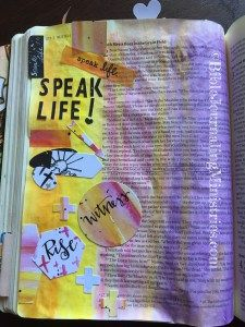 In this Bible Journaling entry from the book of Ruth, I used two different tools to make it easy. I've turned to Gelatos and the Illustrated Faith Rise Up kit here. To view my review of this kit, read this blog: