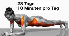 Wir haben für dich ein paar simple Übungen, die deinen Körper schon bei einem täglichen Aufwand von zehn Minuten pro Tag über vier Monate hinweg verändern. Das