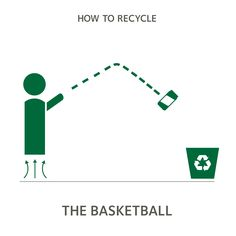 Nothing but net..correction...nothing but bin. #howtorecycle