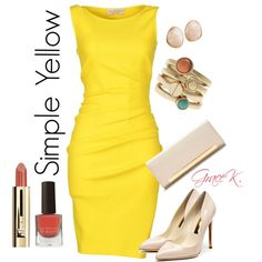 """Simple Yellow"" by gracekathryn on Polyvore"